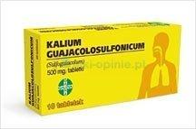 kalium guajacolospulfonicum tabletki