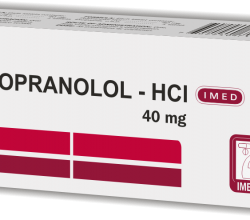 propranolol - HCI tabletki
