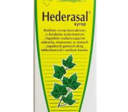 Syrop Hederasal jest naturalnym preparatem roślinnym zawierającym w swoim składzie wyciąg z liści bluszczu, który działa wykrztuśnie i rozkurczowo na mięśnie gładkie oskrzeli. Zmniejsza częstotliwość
