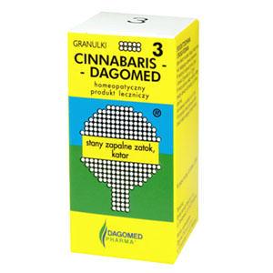 Cinnabaris Dagomed 3 stany zapalne zatok, katar