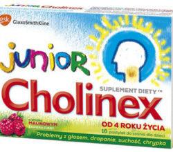 Cholinex junior 16 pastylek do ssania