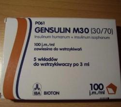 Gensulin M10 M20 M30 M40 M50 zawiesina do wstrzykiwań