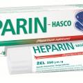 Heparin-Hasco żel