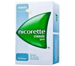 Nicorette Classic Gum, Nicorette Fresh Gum, Nicorette Mint Gum guma do żucia lecznicza
