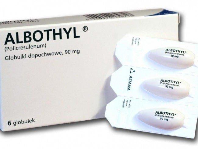 Albothyl globulki dopochwowe