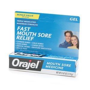 Orajel Mouth Sore Medicine Gel